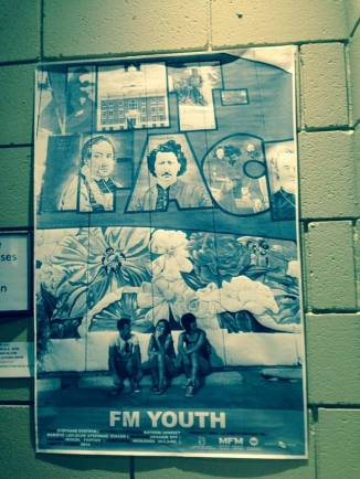Poster outside the Premiere of FM Youth